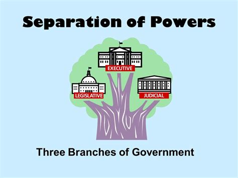Separation Of Powers Three Branches Of Government  Ppt Download