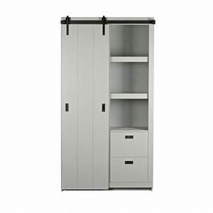 Porte Coulissante En Bois : armoire design bois porte coulissante barn by drawer ~ Melissatoandfro.com Idées de Décoration