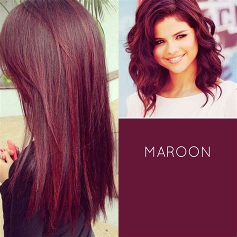 Black Hair Colour Hairstyles by Top 20 Transformations With Maroon Hair Color Hairstyles