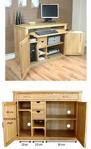 Mobel Oak Hidden Home Office Desk Mobel Oak Home Office