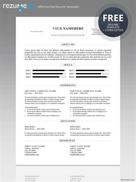 Free Simple Resume Templates by Kallio Simple Resume Word Template Docx