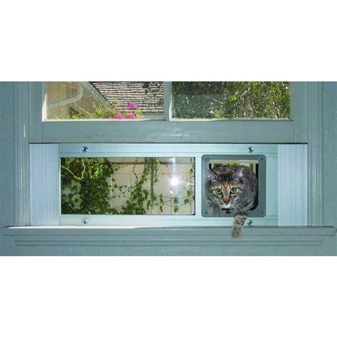 window cat door window sash door for a large or weight challenged cat