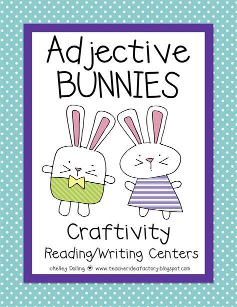 teacher idea factory hoppin  adjectives easter freebie