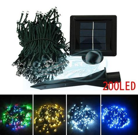wholesale 200led solar lights lights decorative