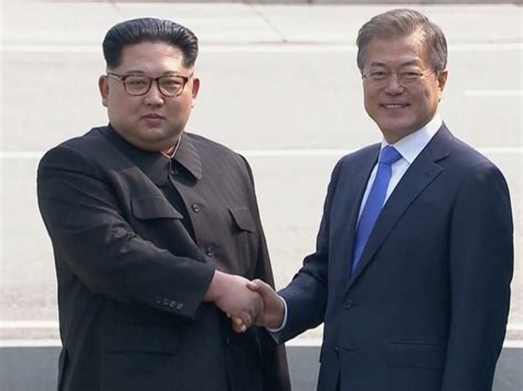Who Is The Leader Of Korea by Korea S Jong Un Crosses Dmz Line For Historic