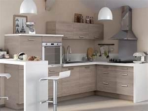 petite cuisine bois plan de travail blanc castorama With plan de travail pour petite cuisine