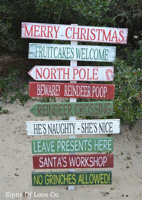 christmas decorations holiday wood signs outdoor indoor