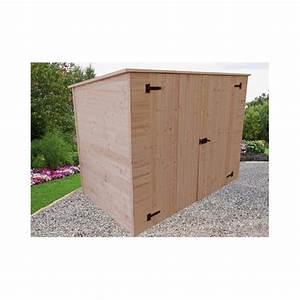 Abri Moto Bois : abri en bois pour v los ou motos 2 20 x 1 25 m ~ Melissatoandfro.com Idées de Décoration