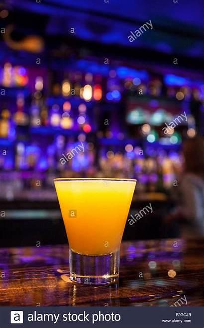 Bar Cocktail Bright Orange Purple Vertical Background