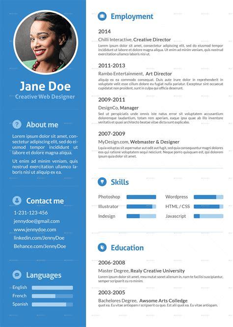 stylish flat resume  ofrika graphicriver