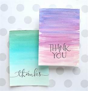 Easy DIY Thank You Cards (Ombré Watercolor
