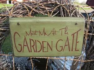 Primitive Garden Gate Sign
