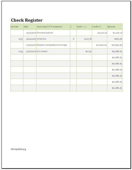 register balance sheet check register balance sheet template xls excel templates