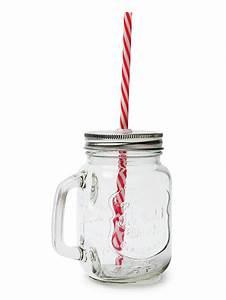 Mason Jar Paille : mason jar en verre avec paille d coration anniversaire et ~ Teatrodelosmanantiales.com Idées de Décoration