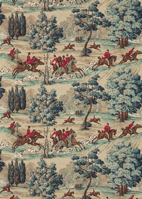 tally ho  sanderson teal ruby wallpaper direct
