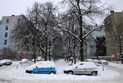 berlin germany december   bad weather