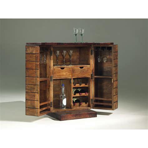 ensemble table et chaise salle manger minibar en bois exotique meuble bar style deco