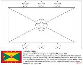 Banderas Para Colorear Dibujo De Bandera De Granada Para