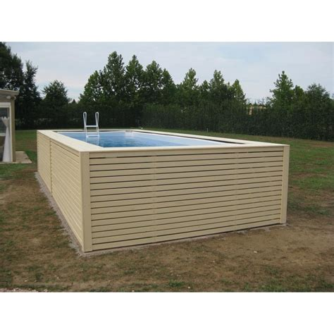 rivestimento in legno per piscine fuori terra piscina fuori terra con rivestimento in legno di abete prezzi