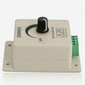 New Led Dimmer Manual Knob Switch Light Monochrome 12  24v