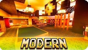 Minecraft - Large MODERN House Design - Cinematic & Map ...