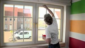 Peinture Encadrement Fenetre Interieur : comment peindre des ch ssis en bois youtube ~ Premium-room.com Idées de Décoration