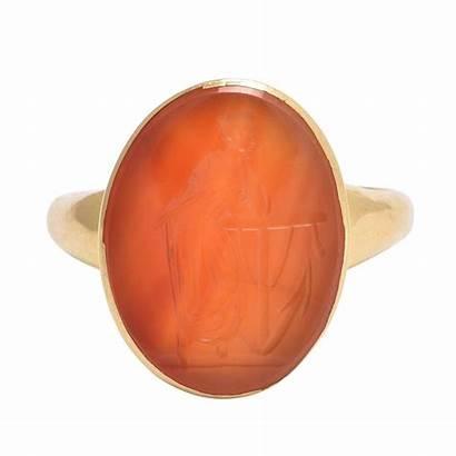 Carnelian Ring Signet 1stdibs Intaglio Antique Victorian
