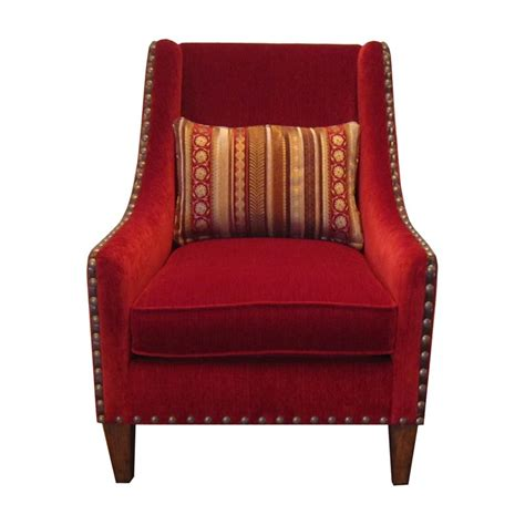 Red Accent Chairs With Arms  Home Furniture Design