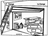 Coloring Garage Garages Sketch Printablecolouringpages Larger Credit sketch template