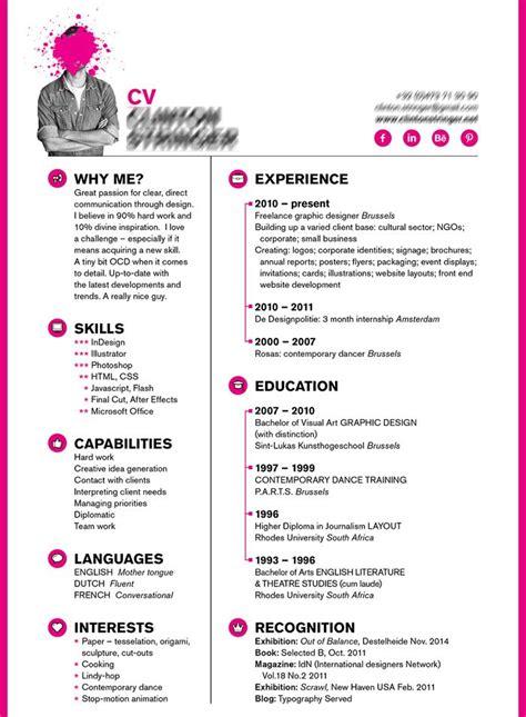 Masque Cv by Masque Pour Cv Exemple De Mise En Page De Cv Moto Bip