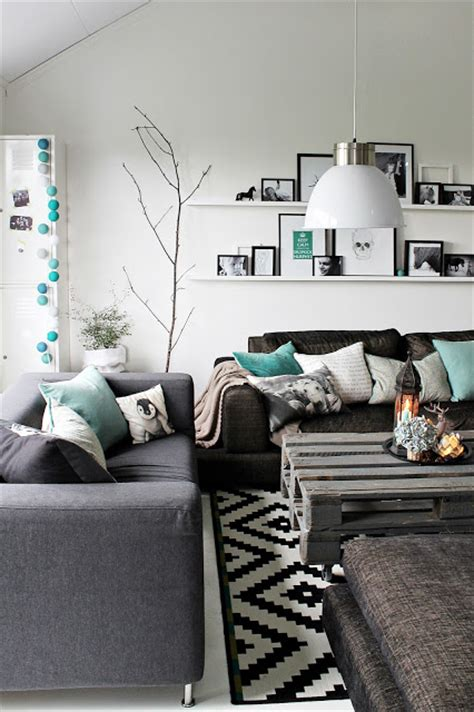 grey white and turquoise living room teal black white and grey livingroom house decorators