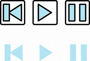 Rewind Play And Pause Buttons Simple Clip Art at Clker