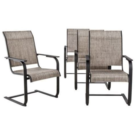 threshold linden 4 piece sling patio motion dining chair