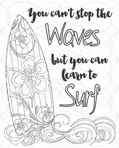 Coloring Inspirational Pages Adult Printable Surf Surfboard