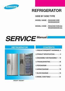 Samsung Rh22h9010sr Rh29h9000sr Refrigerator Service