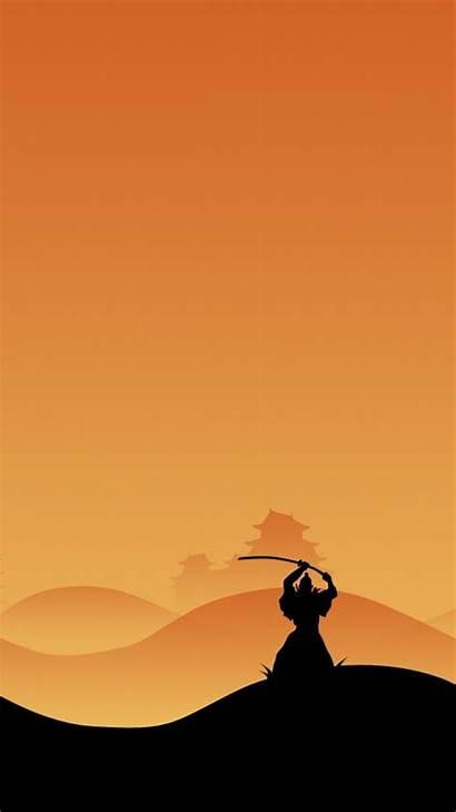 Samurai Japanese Iphone Kenshin Wallpapers Zen Night