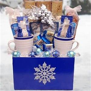 Let It Snow Winter Gift Basket this would be easy and
