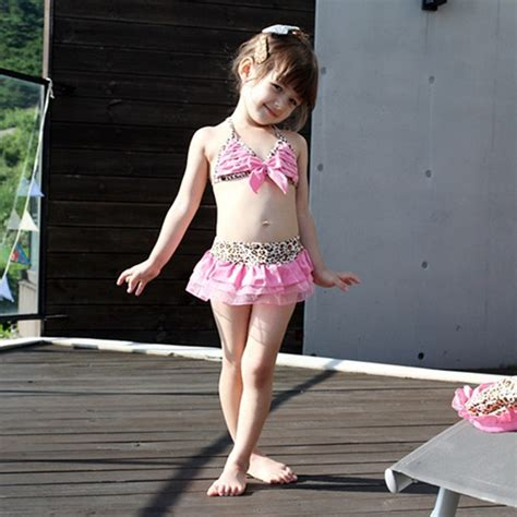 2015 new loli style size3 7t children leopard cake skirt swimsuit two pieces swimwear hat