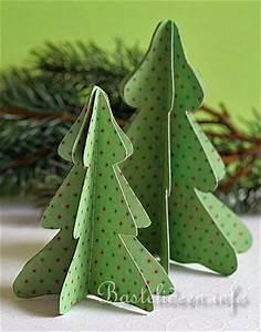 Weihnachtsbaum Basteln Aus Papier : basteln mit papier weihnachten weihnachtsbaum in 3 d ~ Lizthompson.info Haus und Dekorationen