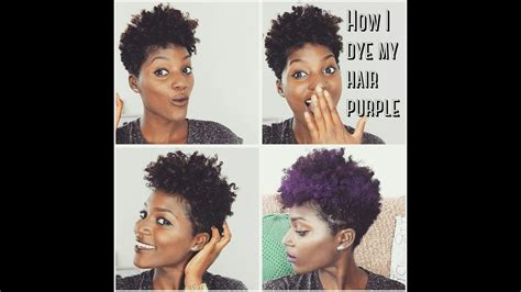 Natural Hair How To Dye Your Hair Purple Without