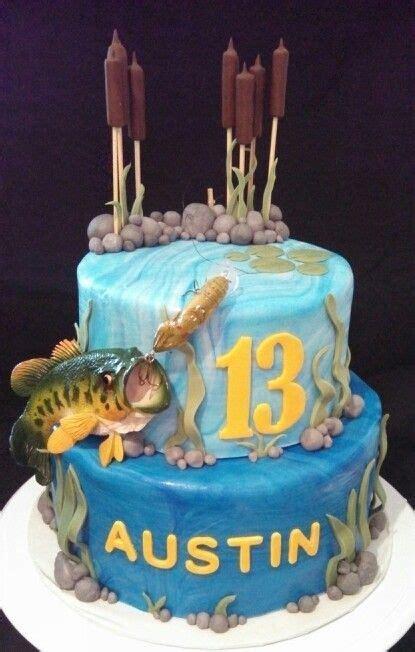 bass fishing cake cakes   christine   fish