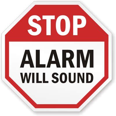 Security Sign Stop Alarm Will Sound, Sku K4713. Elementary School Library Murals. Gestures Signs Of Stroke. Vinyl Wall Murals. Thunderbolts Logo