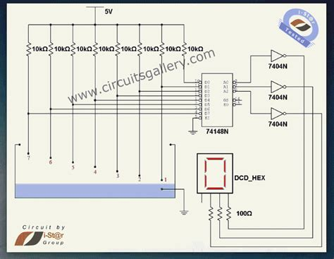 Numeric Water Level Indicator Liquid Sensor Circuit