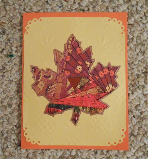 maple leaf iris folded card  images cards folded