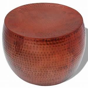 Table Ronde Aluminium : acheter vidaxl table basse ronde aluminium avec finition en cuivre marron pas cher ~ Teatrodelosmanantiales.com Idées de Décoration