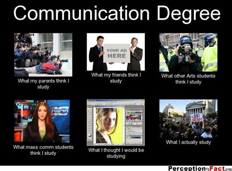 Communication Major Meme - communication degree what people think i do what i really do perception vs fact