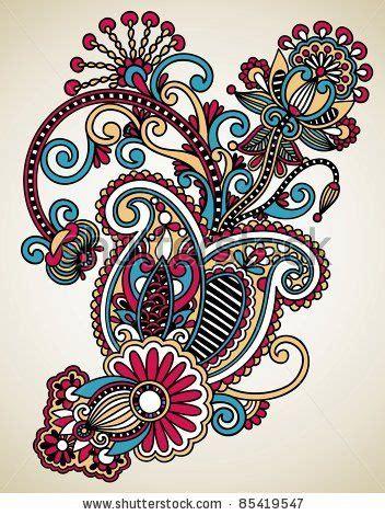 hand draw  art ornate flower design ukrainian