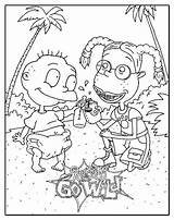 Coloring Rugrats Dane Colouring Hardy Ed Wild Characters Getdrawings Popular Coloringbookfun Tattoo Template sketch template