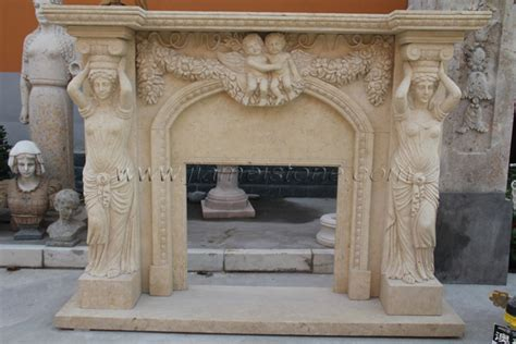 fireplace sc marble fireplace surround statue carved
