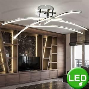 Wohnzimmer Led Lampen : designer 36w led wohnzimmer deckenleuchte aus chrom lampen ~ Watch28wear.com Haus und Dekorationen
